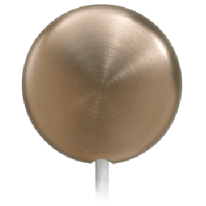 Round Brushed Nickel