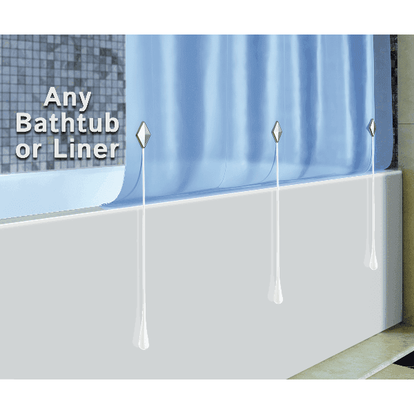 Works on any bathtub or shower liner