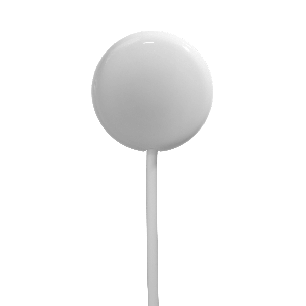 Round White Clingless Curtain Keeper