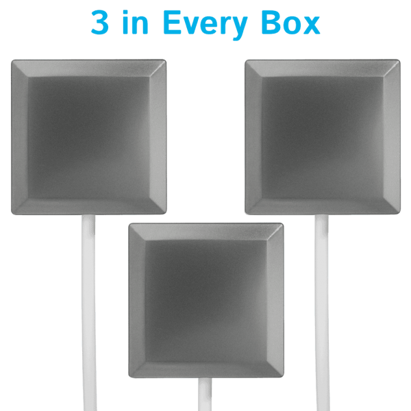 A set of 3 Square Stainless in every box