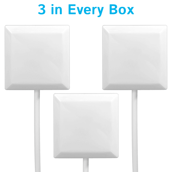 A set of 3 Square White in every box