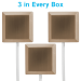 Set of 3 Square Brushed Nickel in every box